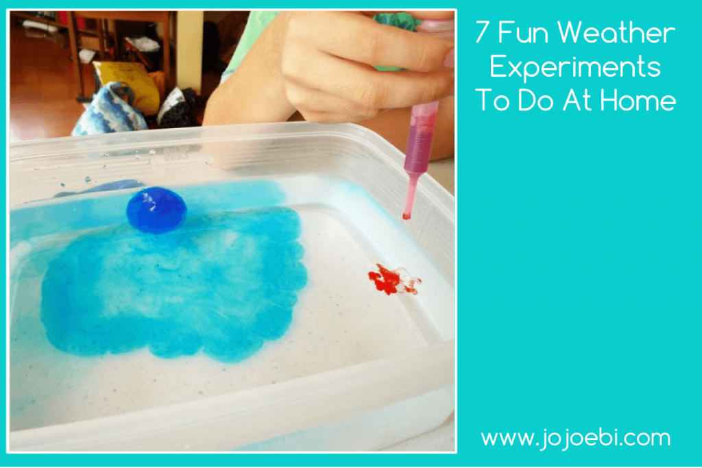 7 Fun Weather Experiments To Do At Home with FREE ebook. Science experiments without the lab | education | science projects | homeschool | Montessori | Kaizen for kids |