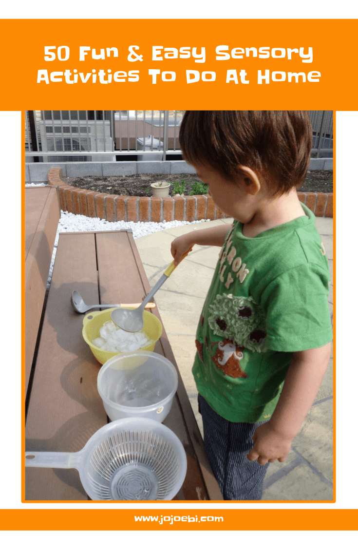 50 Easy Sensory Activities To Do At Home | Montessori | Sensory activities | Montessori inspired | kaizen for kids | mess free activities | Fun for free |