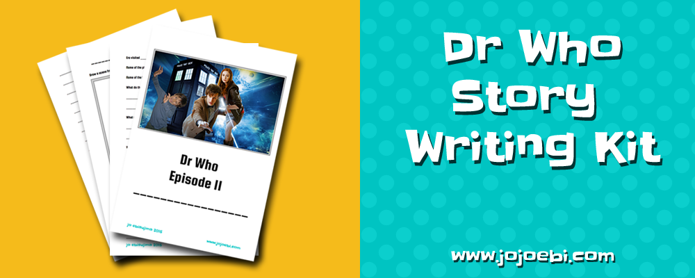 Using the Montessori, Follow The Child philosophy I put together a fun Dr Who themed writing kit. Free Download! | learn with Dr Who | creative writing for kids | story writing | writing kit | Educational printables |