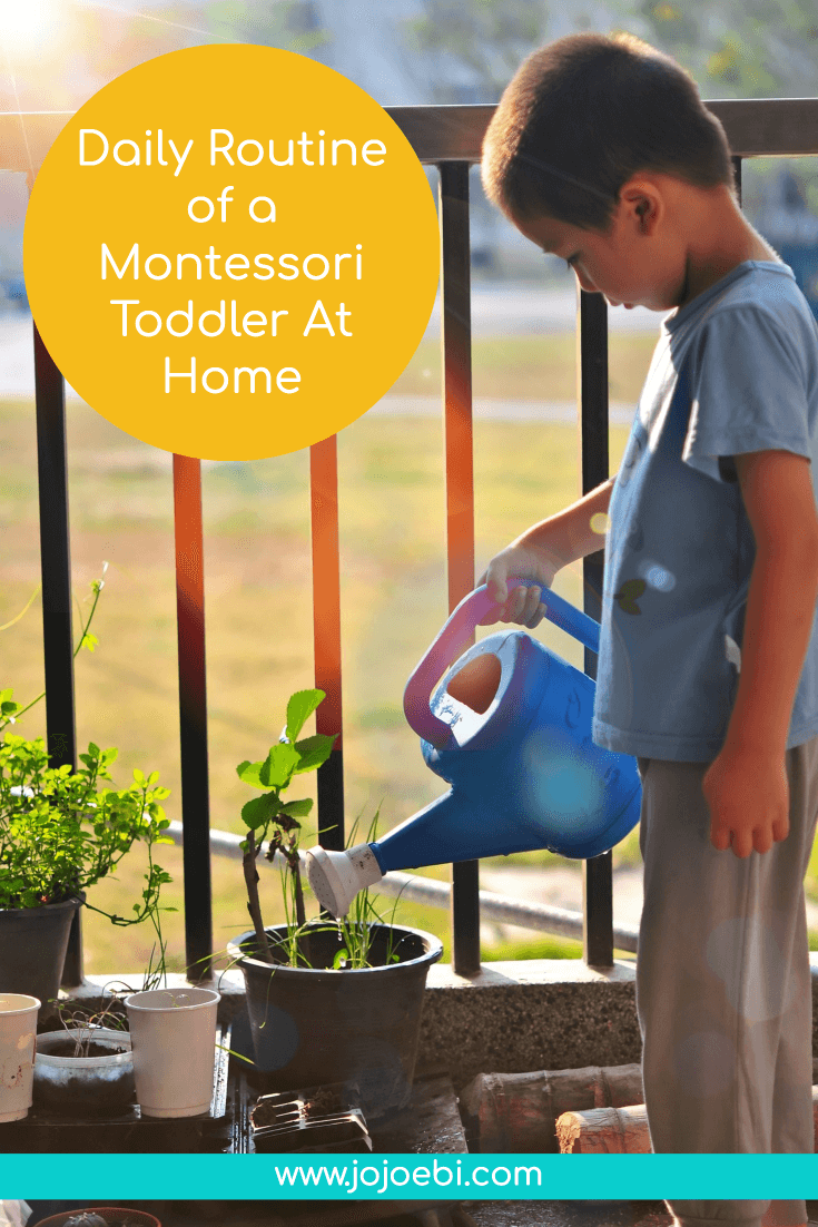 Daily Routine of a Montessori Toddler At Home | montessori | wardolf | homeschooler | toddler | #montessori #homeschool #kaizen