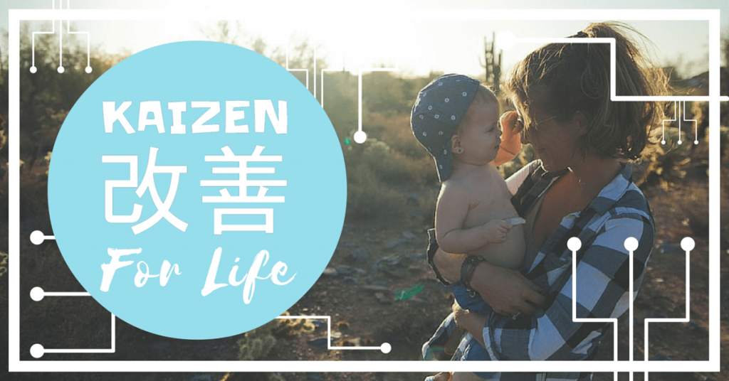 kaizen for life mom with baby boy in the sun