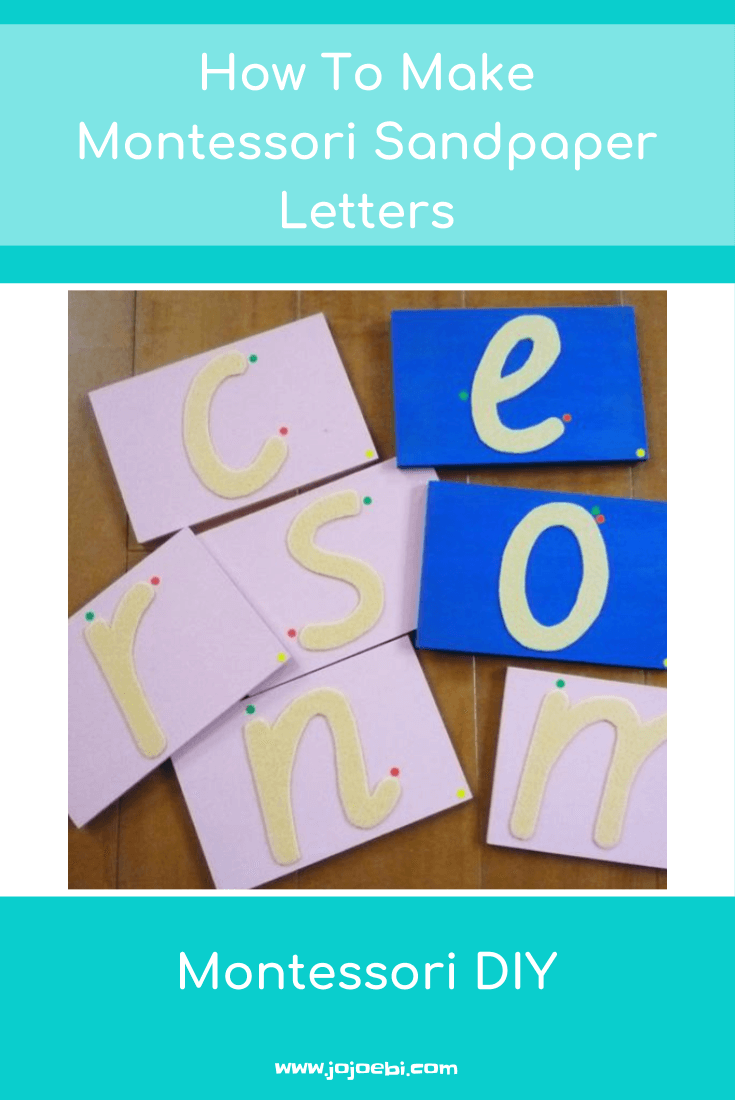 How To Make Montessori Sandpaper Letters | Montessori | Montessori DIY | Montessori at home | Homeschool | Learning to write |