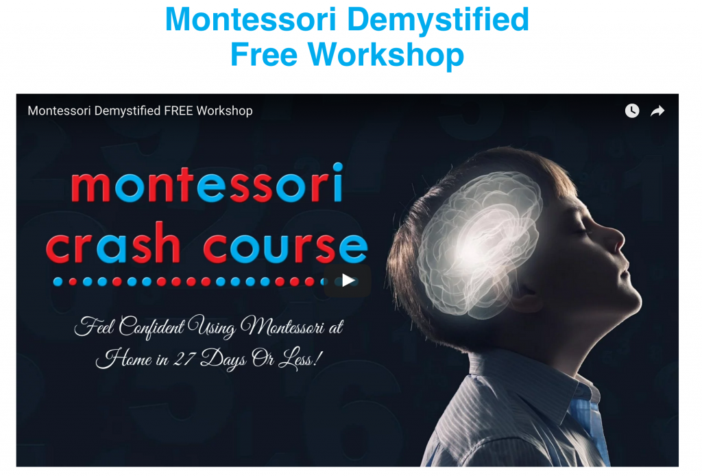 montessori demystified workshop