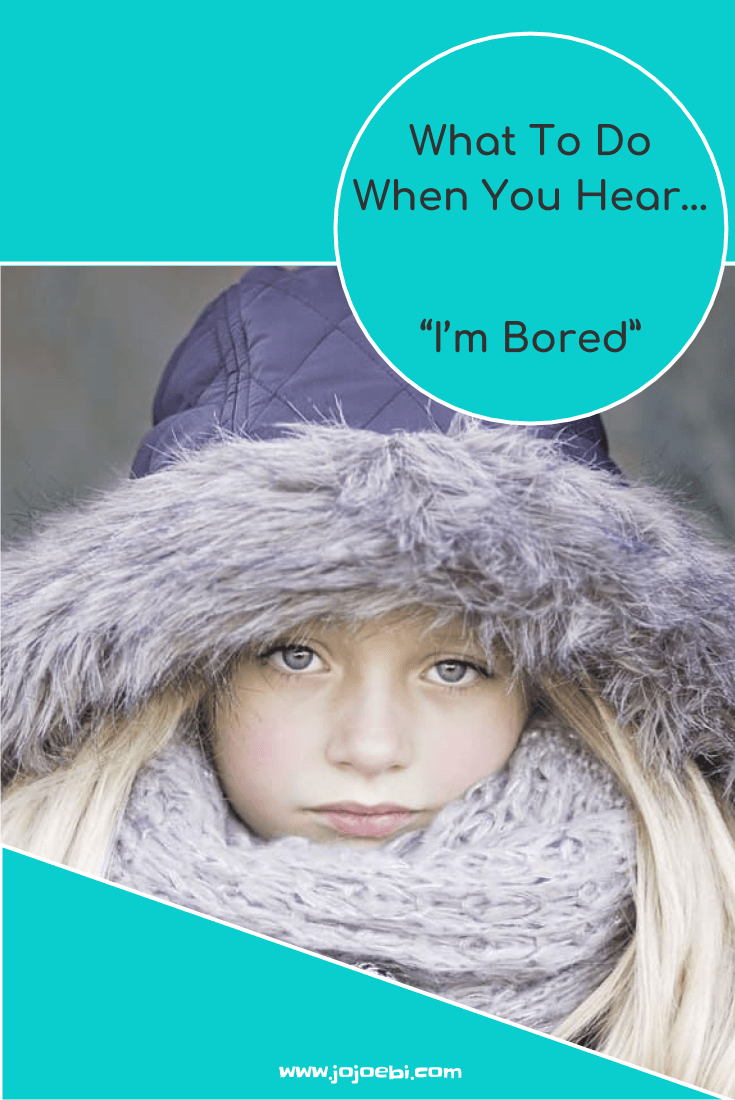 "What to do when the kids say ""I'm Bored"" - science backs that letting them get bored is good for them. Try these ideas to help them along... 
