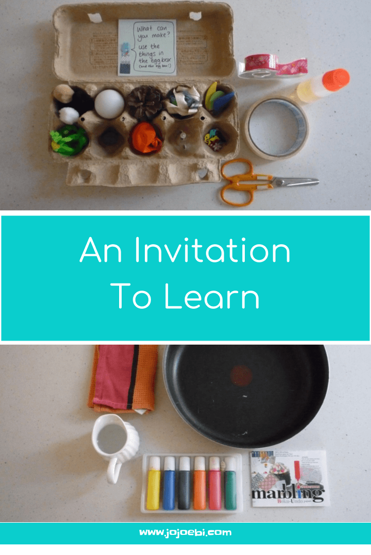 An Invitation To Learn - How to set up activities that your child will love | homeschool | Montessori | teach at home | educational activities | follow the child | kaizen for kids |