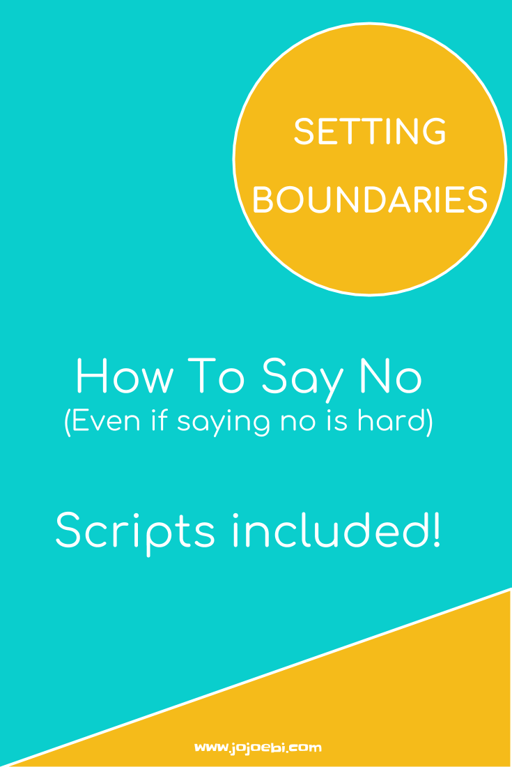 Setting boundaries - how to say no even when you're not good at it | saying no | setting boundries | healthy boundaries for moms |