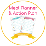 meal planner button free meal planner and action plan to save time