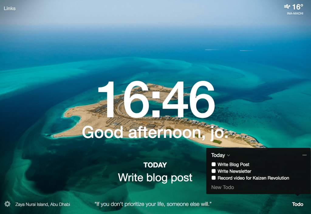 Use momentum to keep your focus on your hit list - Chrome Extensions For Entrepreneurs