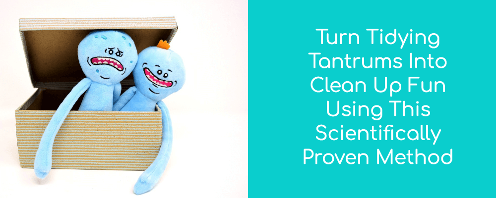 Toys in a box | Turn tidying tantrums into clean up fun with this scientifically proven method. | #kaizen #tidyup #organizing #organizetoys