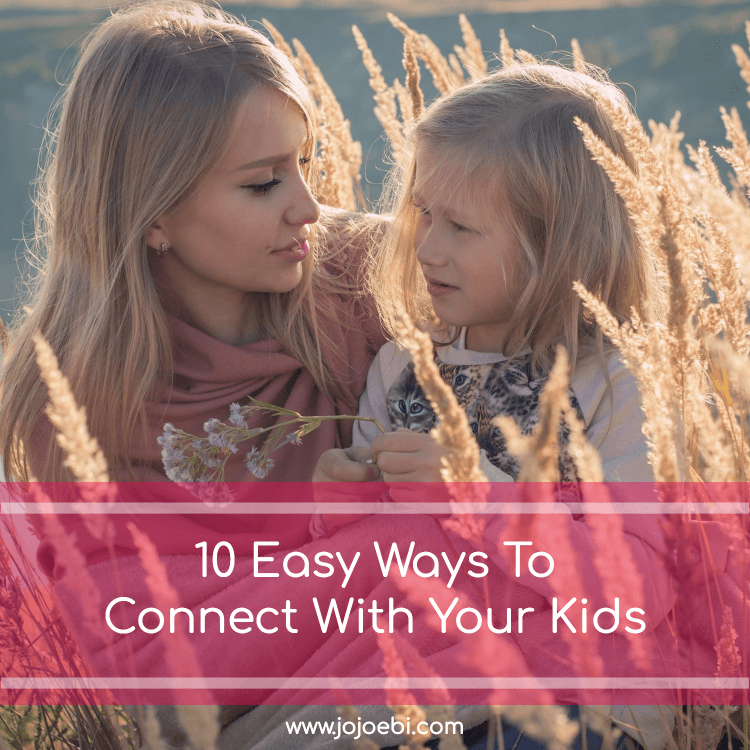 10 joyful Ways To Connect With Your Kids | mother and girl in the field | #kaizen #connection #parenting #mompreneur