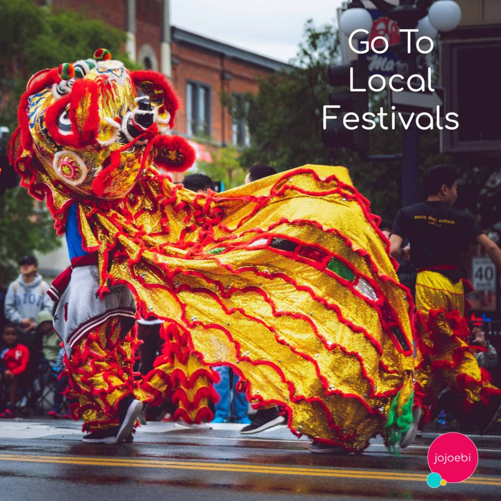 chinese dragon at a street festival