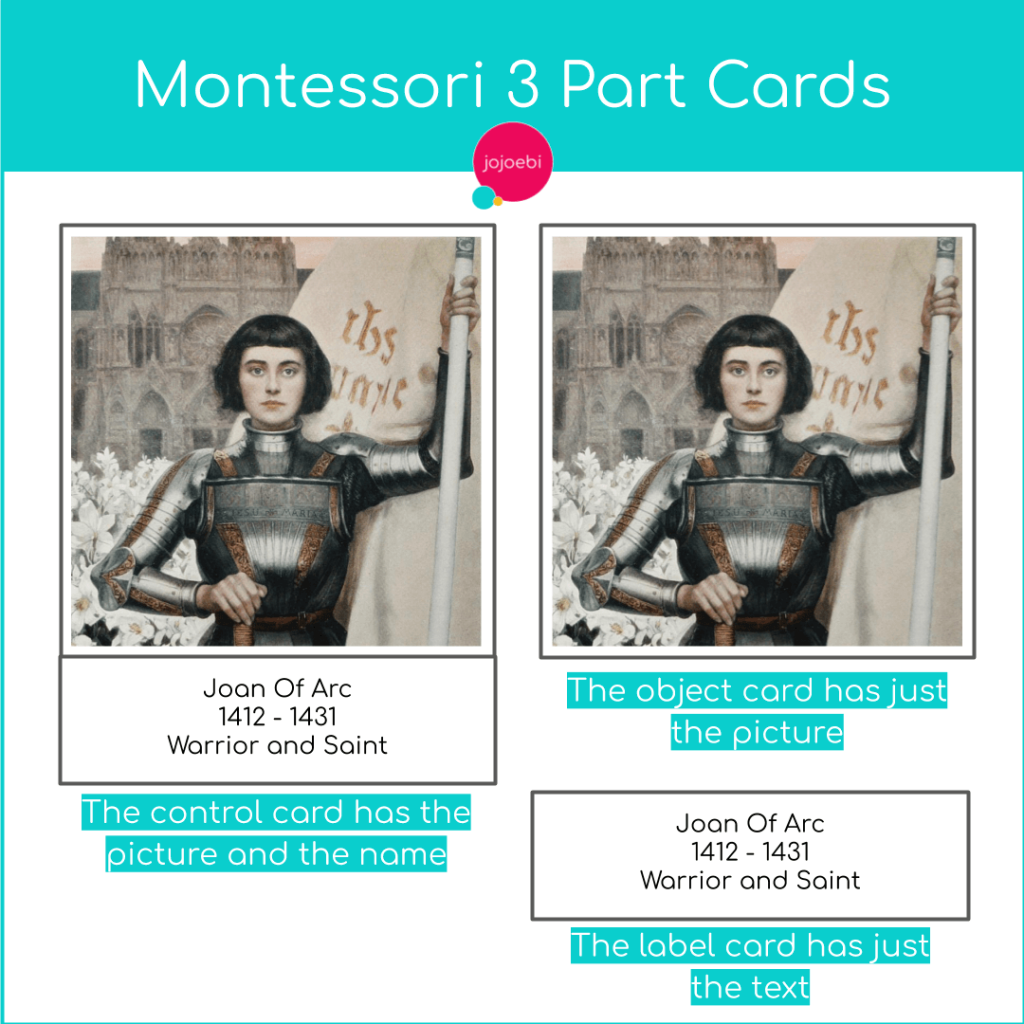 Guide to using Montessori 3 cards