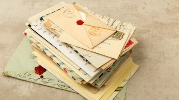 pile of old letters waiting to be decluttered