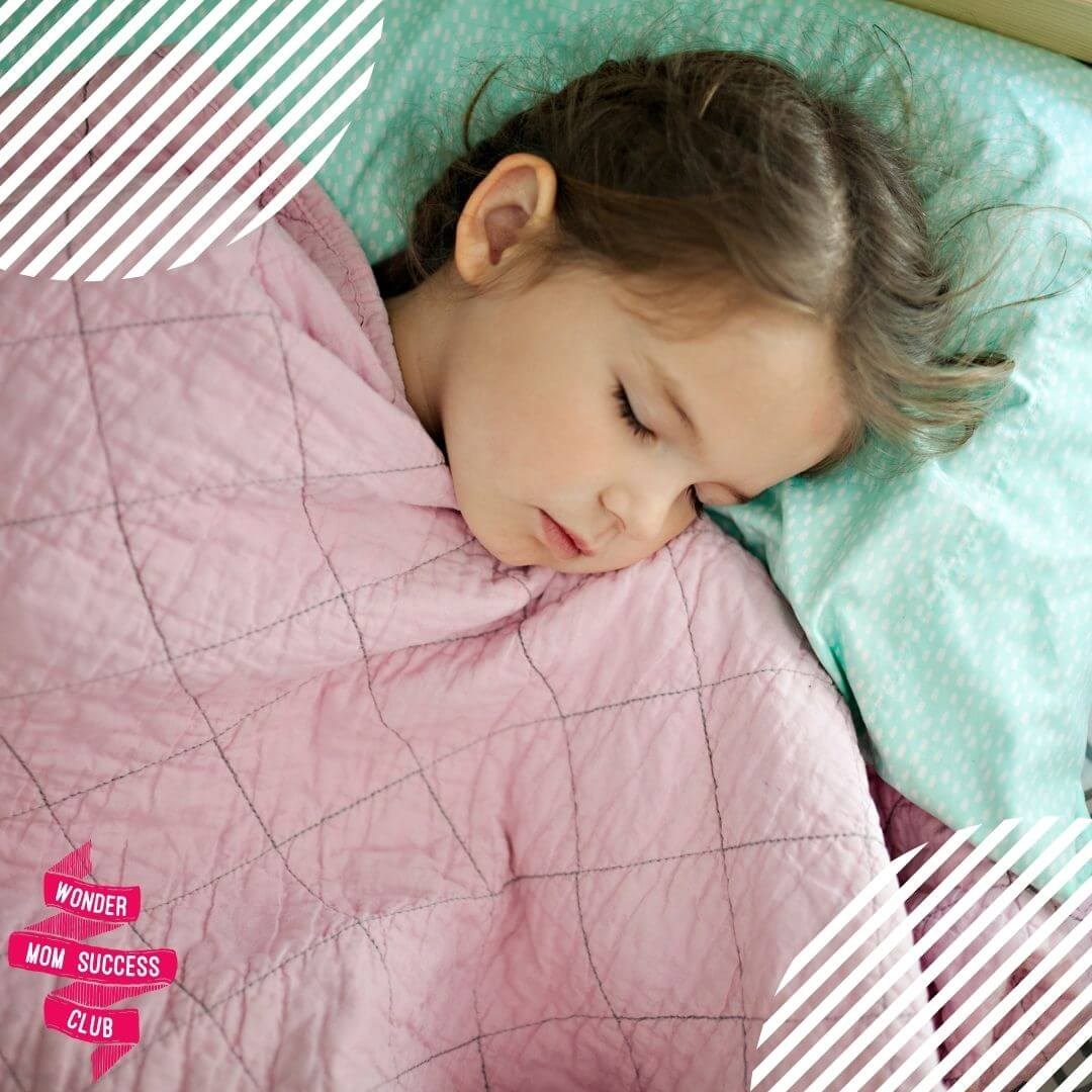 A child is sleeping on a managed and plan school day